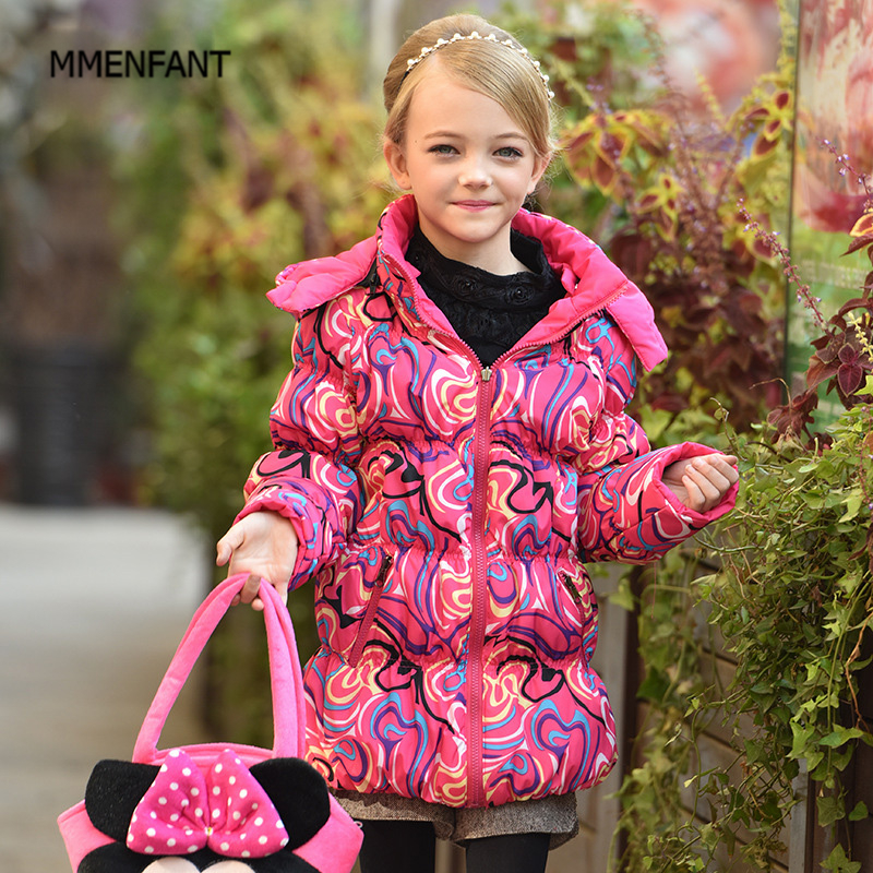 winter jackets for girls Children stand down feathers Small boys and girls light childrens clothing 30#<br>