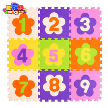 Floor Eco-friendly Eva Foam Baby play mat Puzzle Mats Doormat Anti-slip Slip-resistant Pad Cawling Tiles flower digits kids(China)