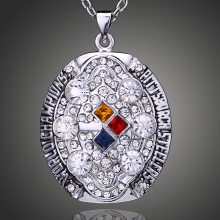 Imitation Paved 2008 Pittsburgh Steelers Men Necklace Wholesale Super Bowl Champ Merchandise for Sale D00332(China)