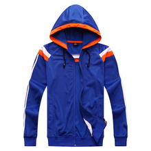 Best quality 2017 new men 102 with hat blue suit light board soccer clothing adult soccer sports jacket uniform