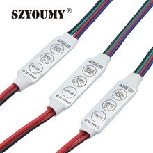 SZYOUMY 500pcs  RGB led Amplifier controller 4 pin 12V 12A Mini Portable LED RGB Amplifier for RGB 5050/3528 SMD led strip