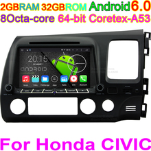 Octa Core Android Car Stereo Audio GPS Carpad Radio DVD Player For Honda CIVIC Right Hand Driving 2006 2007 2008 2009 2010 2011(China)