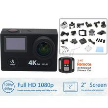 "Hot Brand H8R H8 Ultra HD 4K WIFI Sport Action Camera with remote control Dual Screen 2"" LCD Waterproof Helmet Camcorder DV DVR"