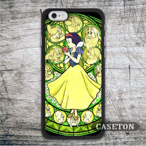 Snow White Stained Glass Case For iPhone 7 6 6s Plus 5 5s SE 5c and For iPod 5 High Quality Lovely Phone Cover Free Ship