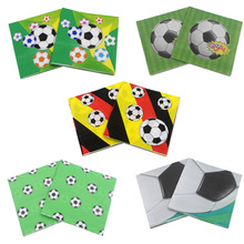 Buy RainLoong Printed Football Paper Napkin Sport Party Tissue Dinner Napkins Supply Party Decoration 33*33cm 20pcs/pack/lot for $2.61 in AliExpress store