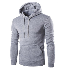 Hot Sale 2016  Plain Men Hoodie Hooded Sweat Shirt Casual Work Wear Tops Lots Sizes M-XXL 4 Colors DM#6