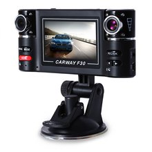 High Quality Adustable Dual Lens Wide View 180 Degree Auto Camcorder Car DVR Driving Recorder Car Camera Night Model Dashcam