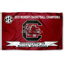 South Carolina 2015 SEC Basketball college banner 3X5ft Flag(China)