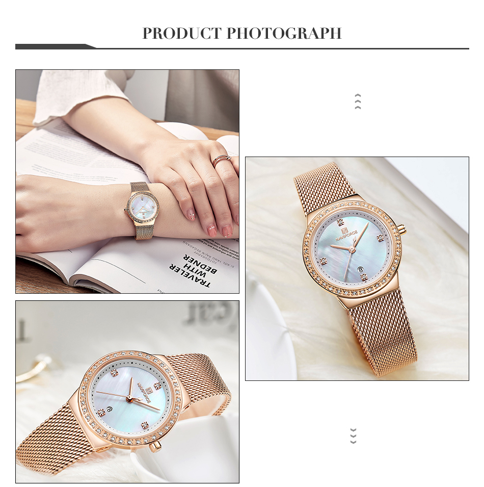 NAVIFORCE New Rose Gold Women Watch Business Quartz Watch Ladies Top Brand Luxury Female Wrist Watch Girl Clock Relogio Feminin (6)