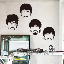Art design cheap vinyl home decoration Beatles wall sticker cartoon removable house decor British musician wall decal in bedroom