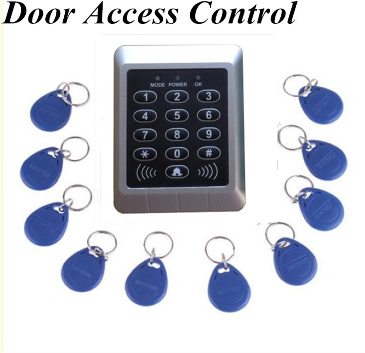 Free Shipping New Arrival RFID Reader &amp; Keypad Door Access Control Waterproof  Keypad Case +10 ID Key<br><br>Aliexpress