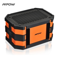 Updated Mpow Armor Waterproof wireless Bluetooth Speaker Passive Outdoor Loudspeakers MP3 Speakers Power Bank for iPhone Xiaomi(China)