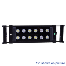 "20W 20""-28"" Marine Aquarium Reef LED Lighting Coral Fish Tank Aquatic Plants Extensible LED Light Fixtures Blue White LED Lamp"