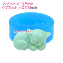 DYL006 19.8mm Cat Silicone Mold - Animal Mold Cabochon Candy Fondant Sugarcraft, Icing, Gum Paste, Resin, Chocolate, Candle Mold