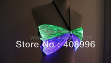 Sexy optical fiber fabric  luminous bra for club performance / luminous costume /Singular dress/clubwear / DS bra
