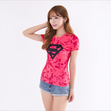 Women Crossfit Short Sleeve Compression Shirt 3D Anime Superman Captain America T Tights Fitness Tops & Tees - AAPING PAN Store store