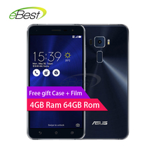 "ASUS Zenfone 3 Ze552kl 4G LTE Mobile Phone 5.5"" Snapdragon 625 Octa Core 4gb Ram 64g Rom 16.0 mp Fingerprint ID smartphone(China)"
