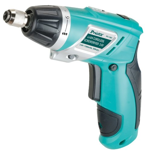 Home DIY  repair tools Brand ProsKit PT-1361F Cordless Screwdriver<br><br>Aliexpress