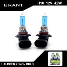 GRANT H10 12V 42W 1Set  Halogen Xenon Bulbs 6000K Super Bright White Car Headlights Auto Replacement Fog Lamps Free shipping