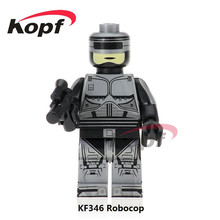 20Pcs Super Heroes Robocop Ghost Of Sparta Kratos Ultimate Black Friday Prison Architect Building Blocks Kids Gift Toys KF346(China)
