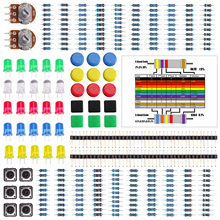 HX-Studio Electronics component pack with resistors, LEDs, Switch, Potentiometer for Arduino UNO, MEGA2560, Raspberry Pi(China)