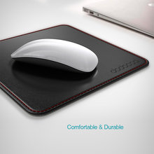 dodocool 2 in1 Non-slip Office Mouse Pad PU Leather Surface Gamer Carrying Case Base Stitched Edges Mouse Pad For Laptop Work(China)