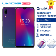 "UMIDIGI One Max Versão Global 4 gb 128 gb 6.3 ""Waterdrop Full-Screen 4150 mah Dual Camera Smartphone face ID NFC Carregamento Sem Fio(China)"