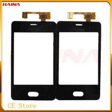 'black color with Touch Screen For Fly Nokia Asha 501 N501 Sensor Phone Digitizer Front Glass Panel+TOOL Replacement Free ship(Hong Kong)