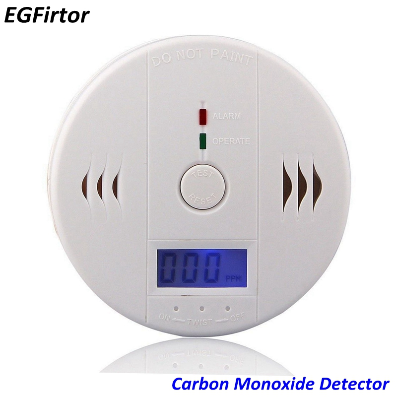 Home Security 85dB Warning-up High Sensitive LCD Independent CO Gas Sensor Carbon Monoxide Poisoning Alarm Detector For Kitchen(China)
