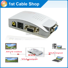 PC VGA to TV AV RCA Signal Adapter Converter Video Switch Box(VGA cable is not included)
