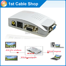 PC VGA to TV AV RCA Signal Adapter Converter Video Switch Box(VGA cable is not included)(China)