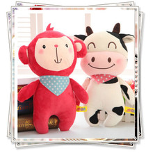 Miccidan Monkey Cow Fluffy bunny kawaii plush rooster toys unicorn kids toys spongebob cheap stuffed animals valentine gifts(China)