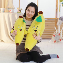 55/75cm 2017 New Style banana people plush toys baby pillow kids cushion stuffed animals doll birthday gift(China)