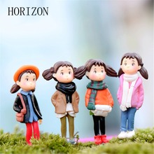 4pcs High Quality Resin Crafts Home Decoration For Micro Landscape Character Microlandschaft Pot Culture Tools Garden Decoration