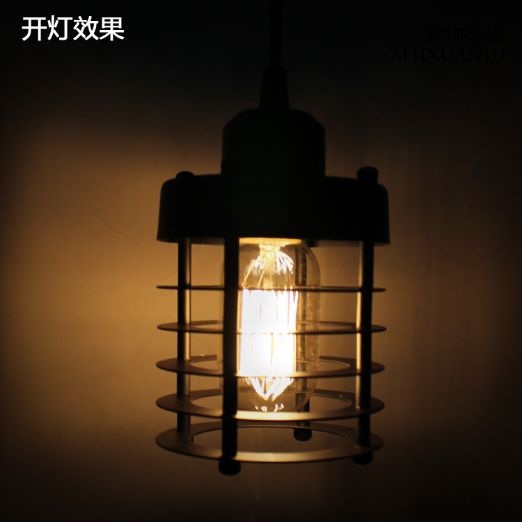 American Industrial Retro Iron Black Birdcage Coffee Shop Pendant Light  Living Room Decoration Lamp Bedroom Light Free Shipping<br>