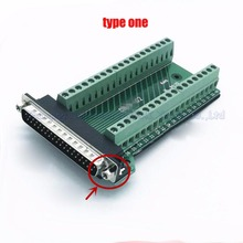 Male Parallel 2 rows 37 pins DB37 Serial port turn to wire terminals DR37 male socket turn to terminal(China)