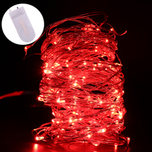 Cell Battery Powered 2M 20 Led Silver Copper Wire Mini Fairy String Light Lamp For Christmas Holiday Wedding Party 8Colors strip