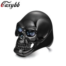 New Western Ring men black skull Jewelry AccessoriesRC-144B(China)