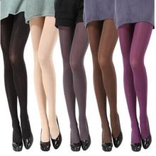 Brand New 7 Colors New 2018 Woman 100% Velvet Candy Color 120D Pantyhose Plus Size Multicolour Stovepipe Tights Women(China)