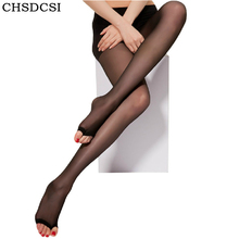 Buy CHSDCSI Spring Fall Open Toe Pantyhose Sexy Thin Nylon Women's Tights Stockings 2018 Fashion Female Transparent Long Stockings