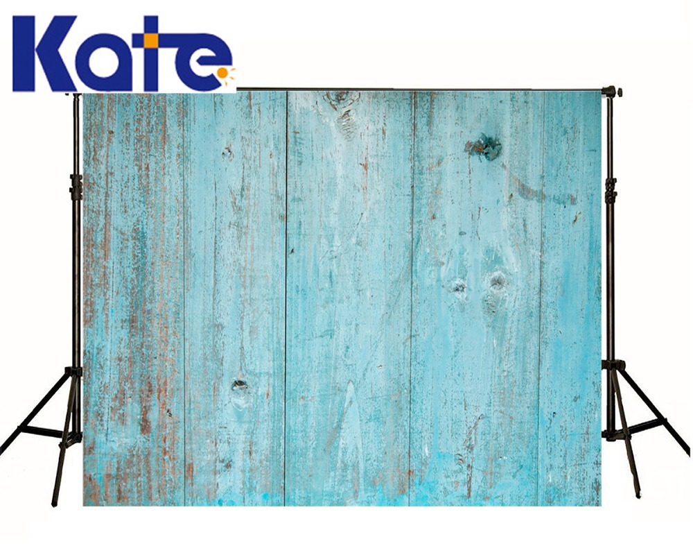 Kate Retro Blue Wood Background Vertical Stripes Photography Kids Background Customize Custom Made Photo Backdrops<br>