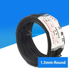 1.5mm Cable Tie Galvanized Tie Wire Black Flate Shape For Garden Wire & Cable Arrangement Approx.20m Round Type