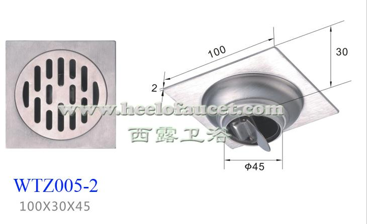 Square bathroom 4 stainless steel self-sealing water trap anti-odor common floor drain<br><br>Aliexpress