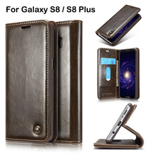 Flip Cover Case For Samsung S8/ S8 Plus Real Genuine Leather Mobile Phone Case For Samsung Galaxy S8 Plus Edge Luxury Wallet Bag