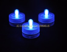 500pcs/lot Free Shipping Submersible Led tea light underwater Waterproof tealight Wedding Party vase floral candle decoration