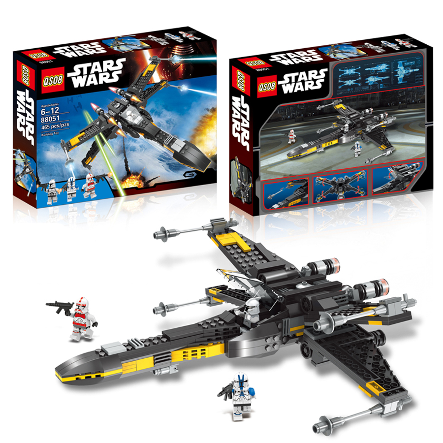 465Pcs Star Wars The Force Awakens Poes X-Wing Fighter Model Building Kit Blocks Bricks Compatible Legoede Lepin Toys<br><br>Aliexpress