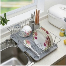 Large stainless steel dish rack Drain Kitchen racks dishes dry discharge - My Home Shop store