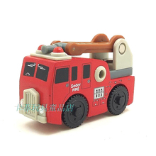 free shipping RARE Original Red fire truck Thomas And Friends Wooden Magnetic Railway Model Train Engine Boy/Kids Toy(China)