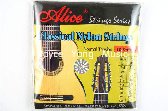Alice AC1032 10-String Classical Guitar Strings Clear Nylon Strings Silver-Plated Copper Wound 1st-10th Strings Free Shipping<br><br>Aliexpress