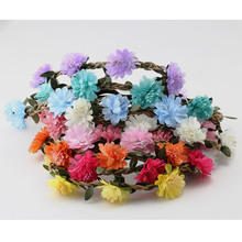 Women Lady Girl Summer Hair Accessories Headband Bohemia Flower Crown Wedding Wreath Bridal Headwear Beautiful Garland(China)